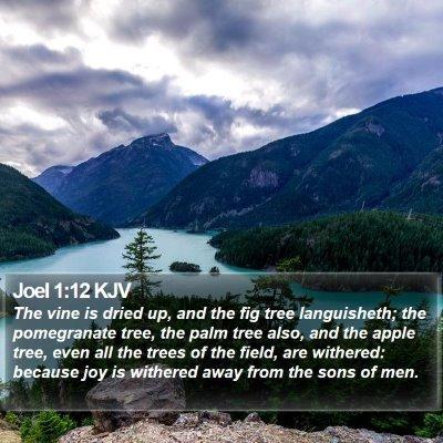 Joel 1:12 KJV Bible Verse Image
