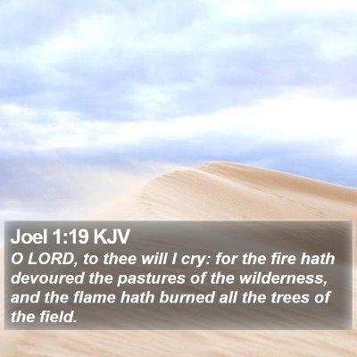 Joel 1:19 KJV Bible Verse Image