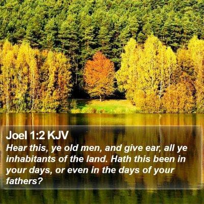 Joel 1:2 KJV Bible Verse Image