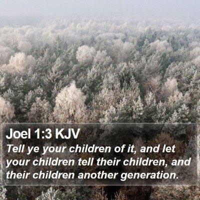 Joel 1:3 KJV Bible Verse Image