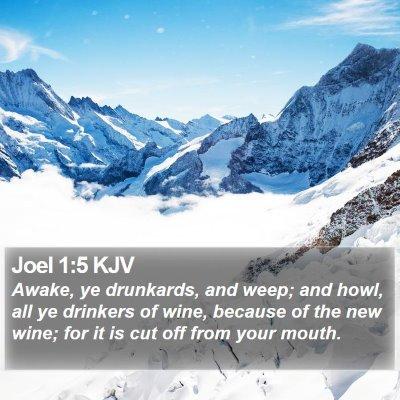 Joel 1:5 KJV Bible Verse Image
