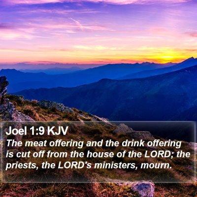 Joel 1:9 KJV Bible Verse Image