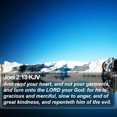 Joel 2:13 KJV Bible Verse Image