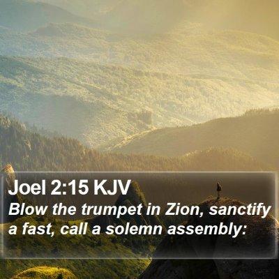 Joel 2:15 KJV Bible Verse Image