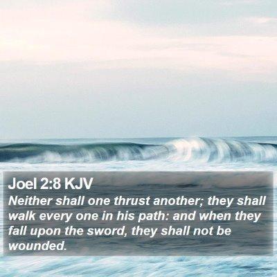 Joel 2:8 KJV Bible Verse Image