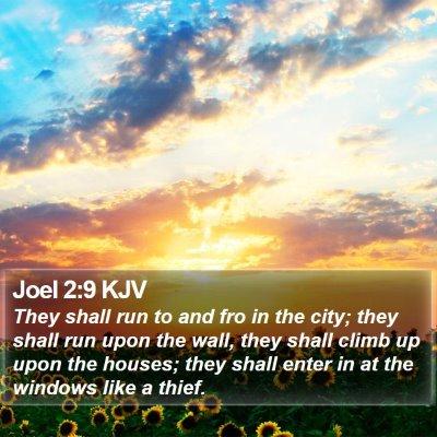 Joel 2:9 KJV Bible Verse Image