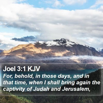 Joel 3:1 KJV Bible Verse Image