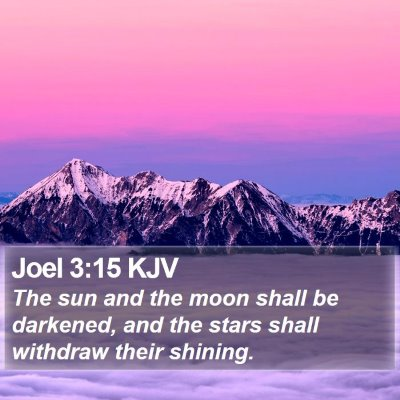 Joel 3:15 KJV Bible Verse Image