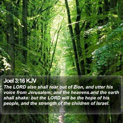 Joel 3:16 KJV Bible Verse Image