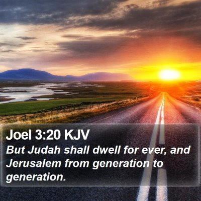 Joel 3:20 KJV Bible Verse Image