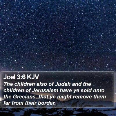 Joel 3:6 KJV Bible Verse Image