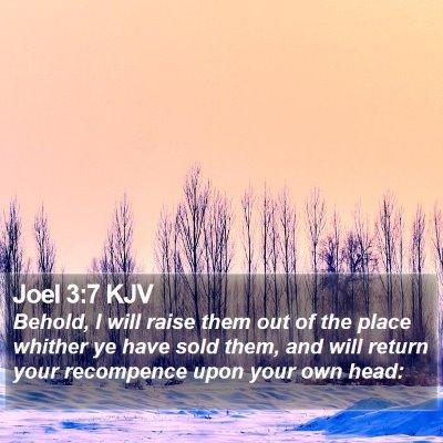 Joel 3:7 KJV Bible Verse Image