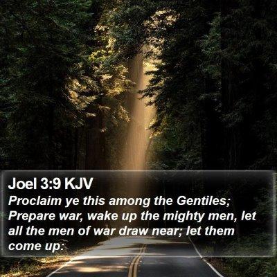Joel 3:9 KJV Bible Verse Image