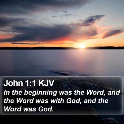 John 1:1 KJV Bible Verse Image