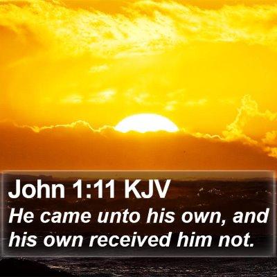 John 1:11 KJV Bible Verse Image