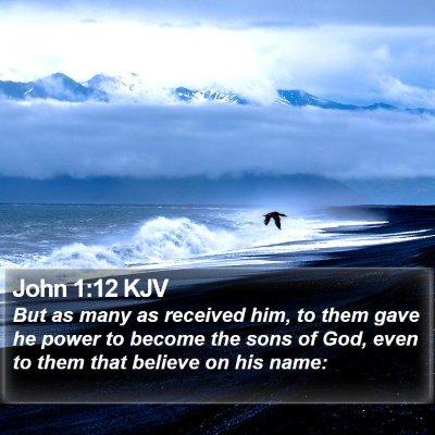 John 1:12 KJV Bible Verse Image