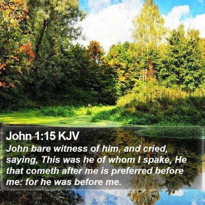 John 1:15 KJV Bible Verse Image