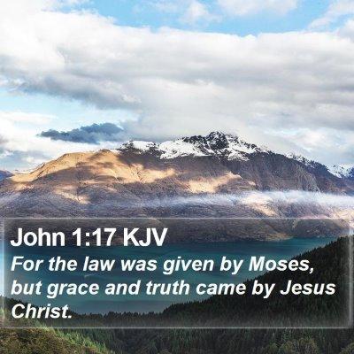 John 1:17 KJV Bible Verse Image