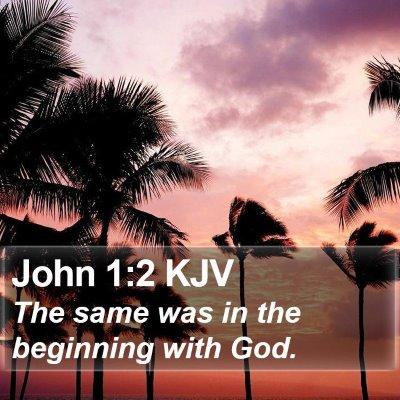 John 1:2 KJV Bible Verse Image