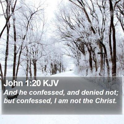 John 1:20 KJV Bible Verse Image