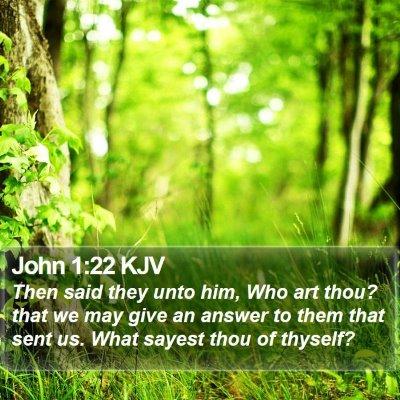 John 1:22 KJV Bible Verse Image