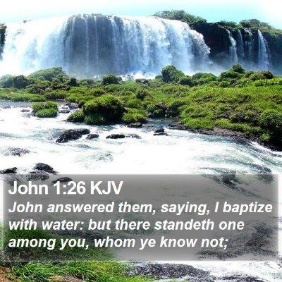 John 1:26 KJV Bible Verse Image