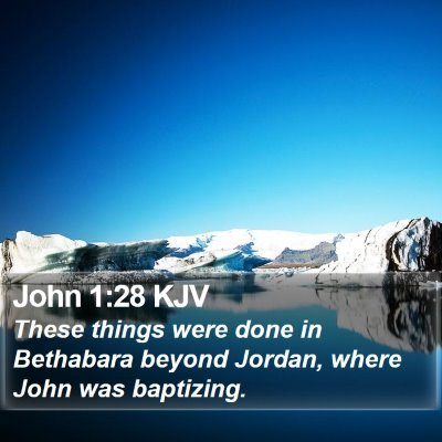 John 1:28 KJV Bible Verse Image