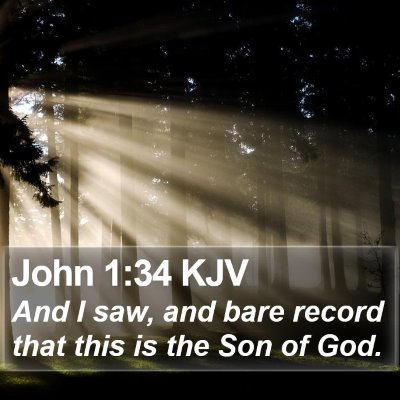 John 1:34 KJV Bible Verse Image
