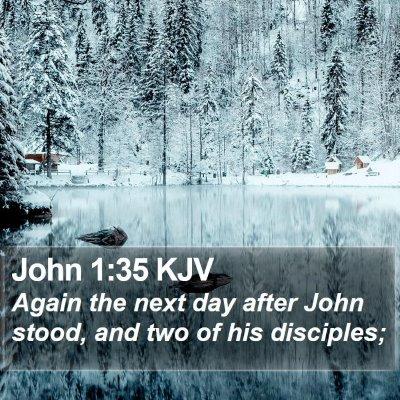 John 1:35 KJV Bible Verse Image