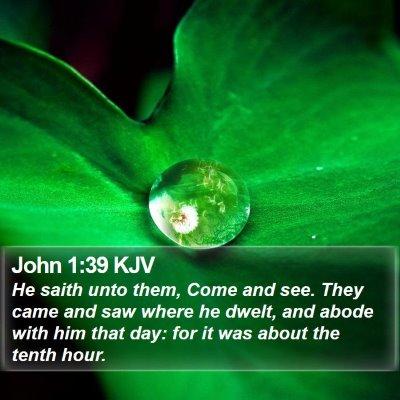 John 1:39 KJV Bible Verse Image