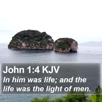 John 1:4 KJV Bible Verse Image