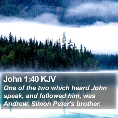 John 1:40 KJV Bible Verse Image