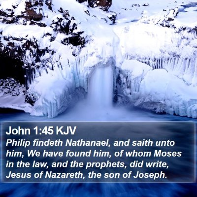 John 1:45 KJV Bible Verse Image