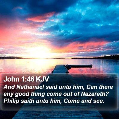 John 1:46 KJV Bible Verse Image