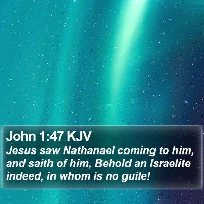 John 1:47 KJV Bible Verse Image