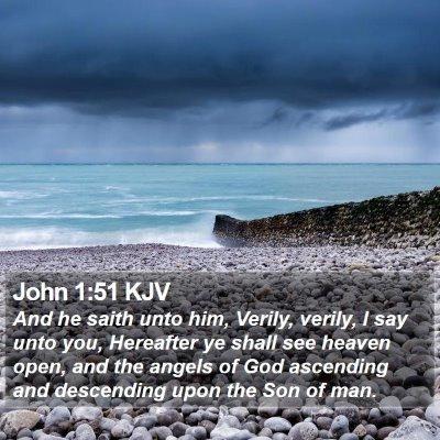 John 1:51 KJV Bible Verse Image
