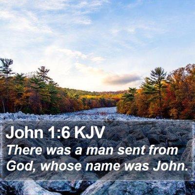 John 1:6 KJV Bible Verse Image
