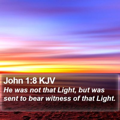 John 1:8 KJV Bible Verse Image