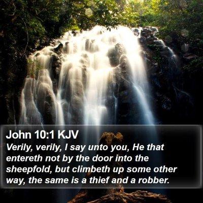 John 10:1 KJV Bible Verse Image