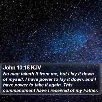 John 10:18 KJV Bible Verse Image