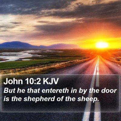 John 10:2 KJV Bible Verse Image