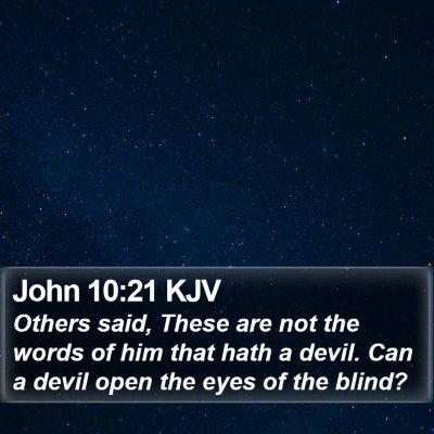 John 10:21 KJV Bible Verse Image