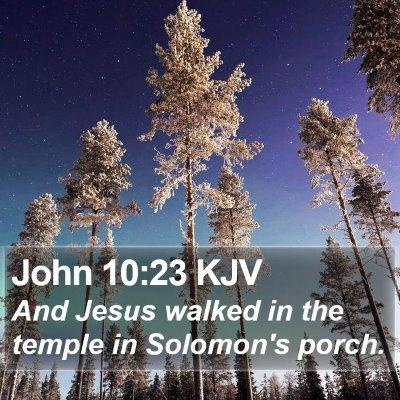 John 10:23 KJV Bible Verse Image
