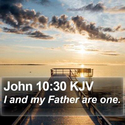 John 10:30 KJV Bible Verse Image