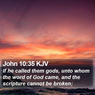 John 10:35 KJV Bible Verse Image