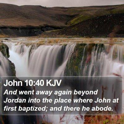 John 10:40 KJV Bible Verse Image