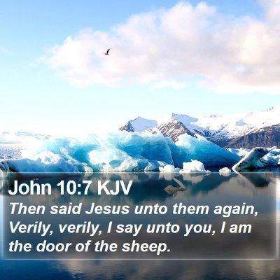 John 10:7 KJV Bible Verse Image
