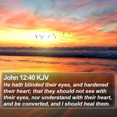 John 12:40 KJV Bible Verse Image