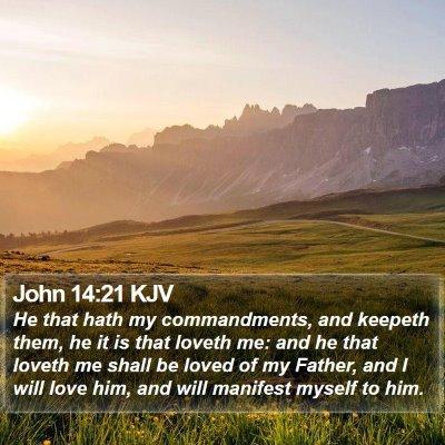 John 14:21 KJV Bible Verse Image