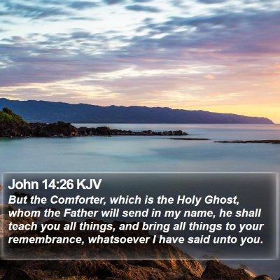 John 14:26 KJV Bible Verse Image